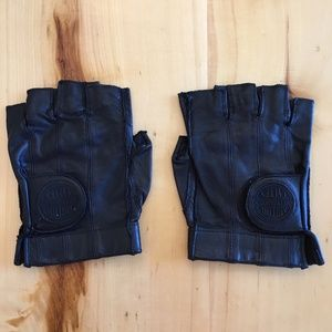 Genuine Harley Davidson Leather Fingerless Gloves